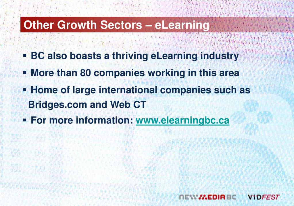Other Growth Sectors – eLearning