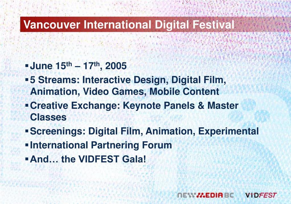Vancouver International Digital Festival