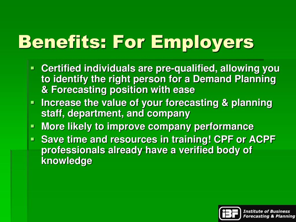 Benefits: For Employers
