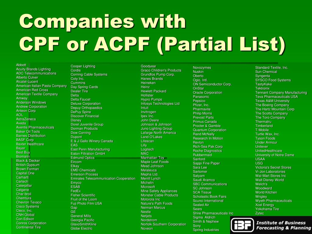 Companies with