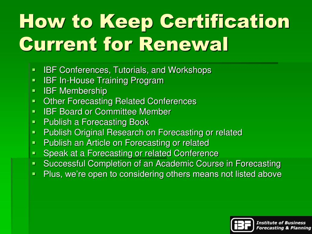 How to Keep Certification Current for Renewal