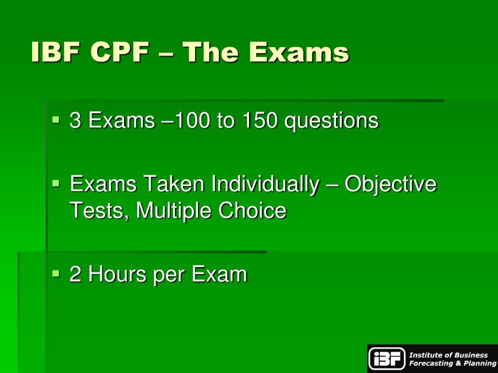 IBF CPF – The Exams