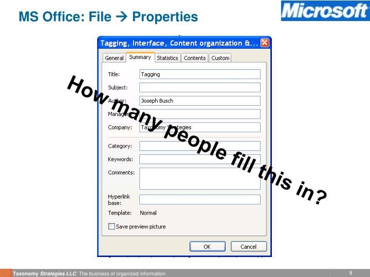MS Office: File