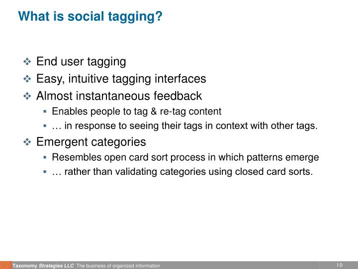 What is social tagging?