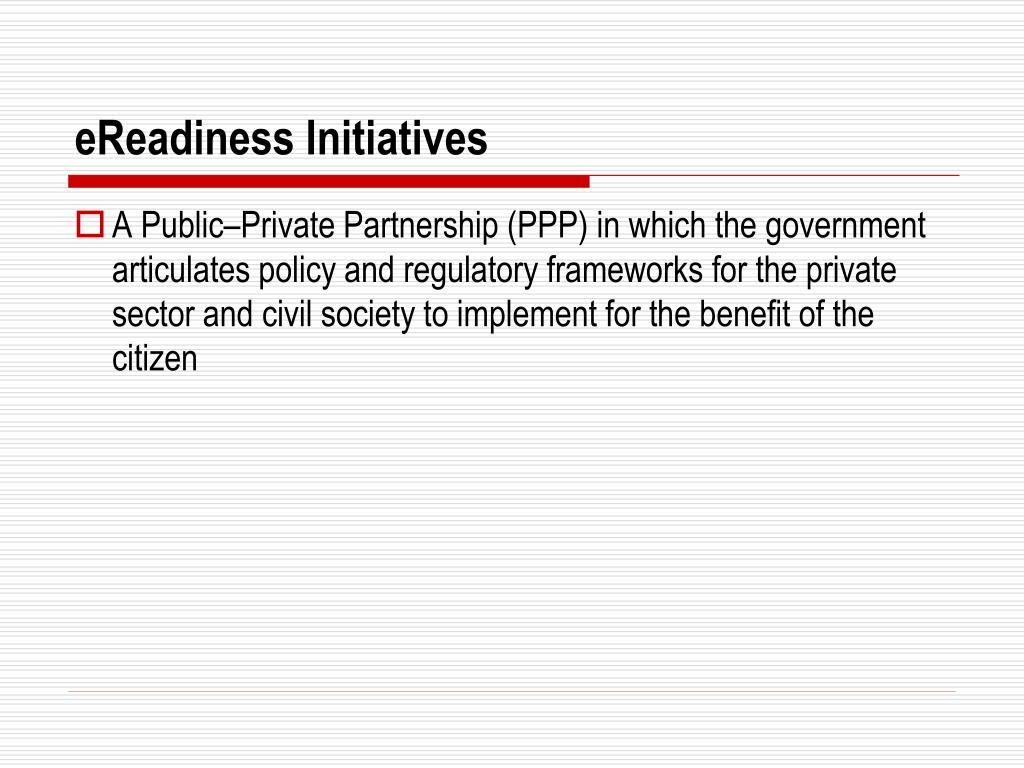 eReadiness Initiatives