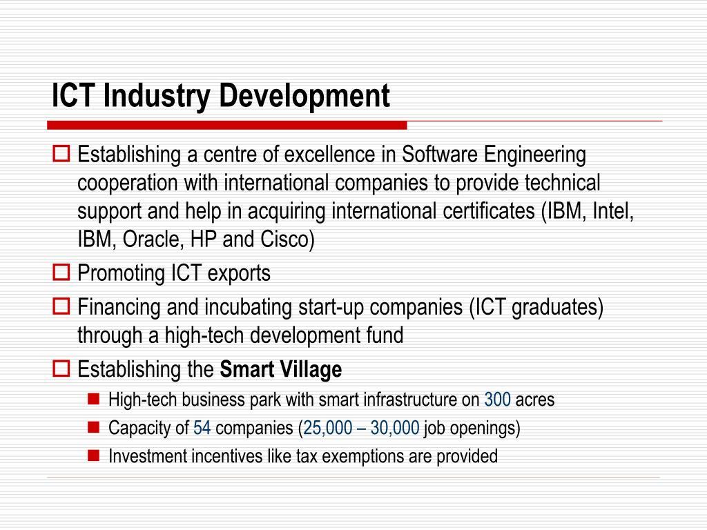 ICT Industry Development
