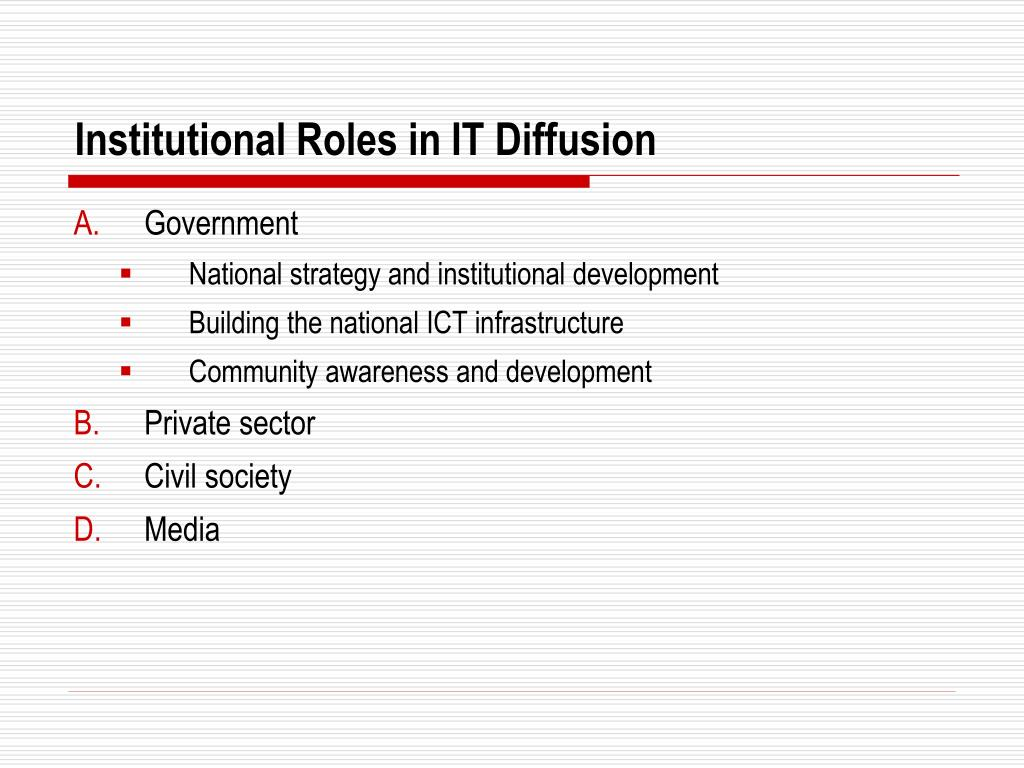 Institutional Roles in IT Diffusion