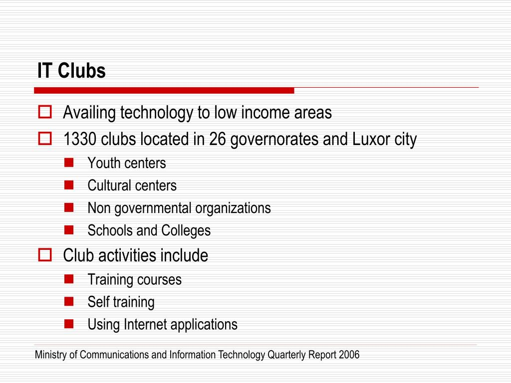 IT Clubs