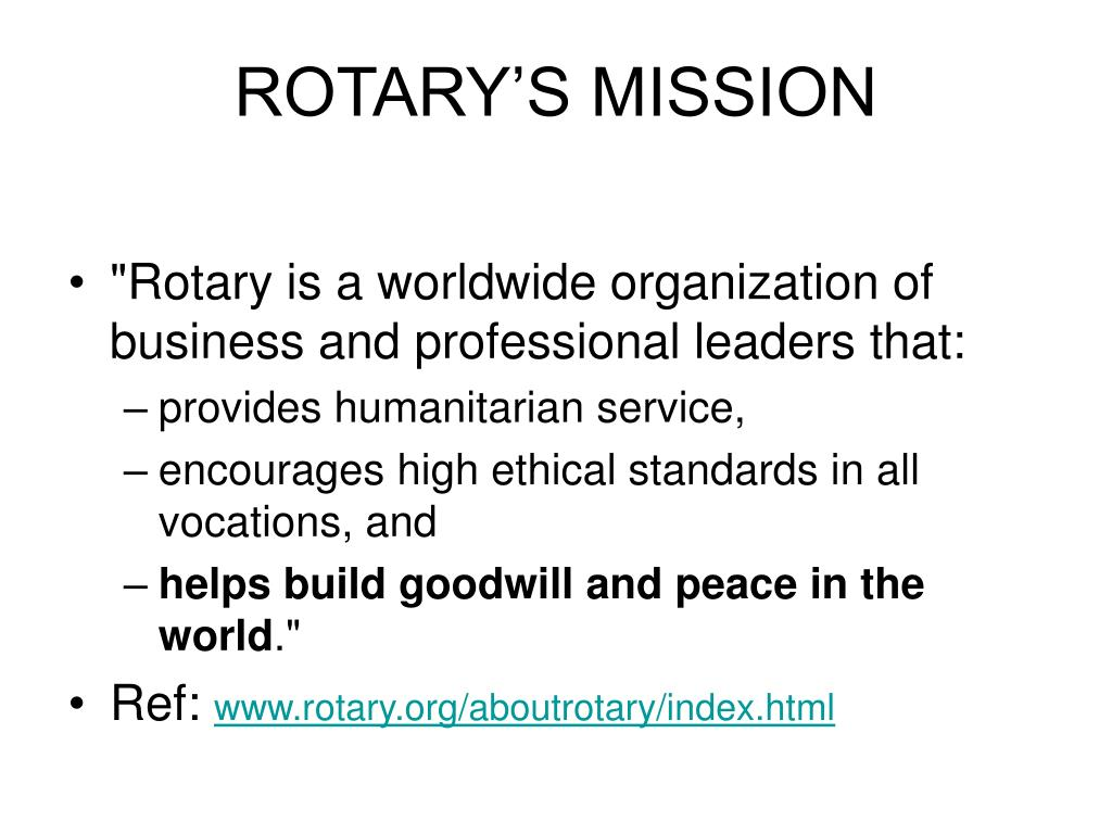 ROTARY'S MISSION