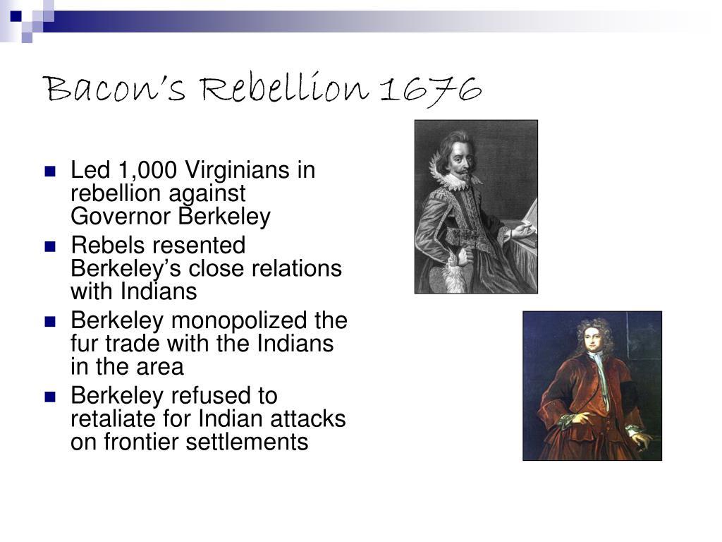 Bacon's Rebellion 1676