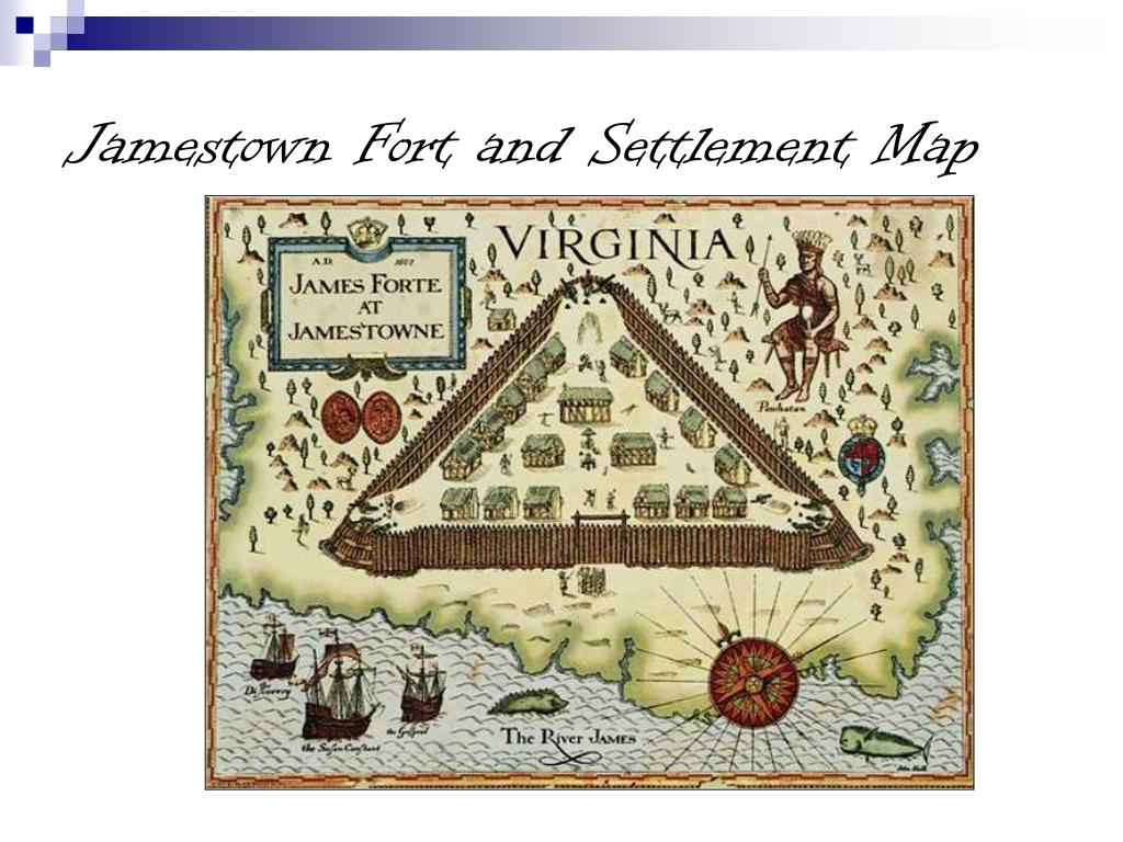 Jamestown Fort and Settlement Map