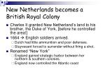 new netherlands becomes a british royal colony