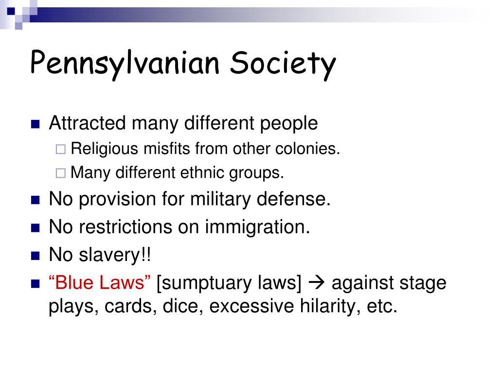 Pennsylvanian Society