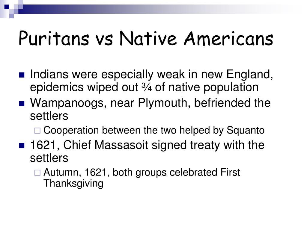 Puritans vs Native Americans