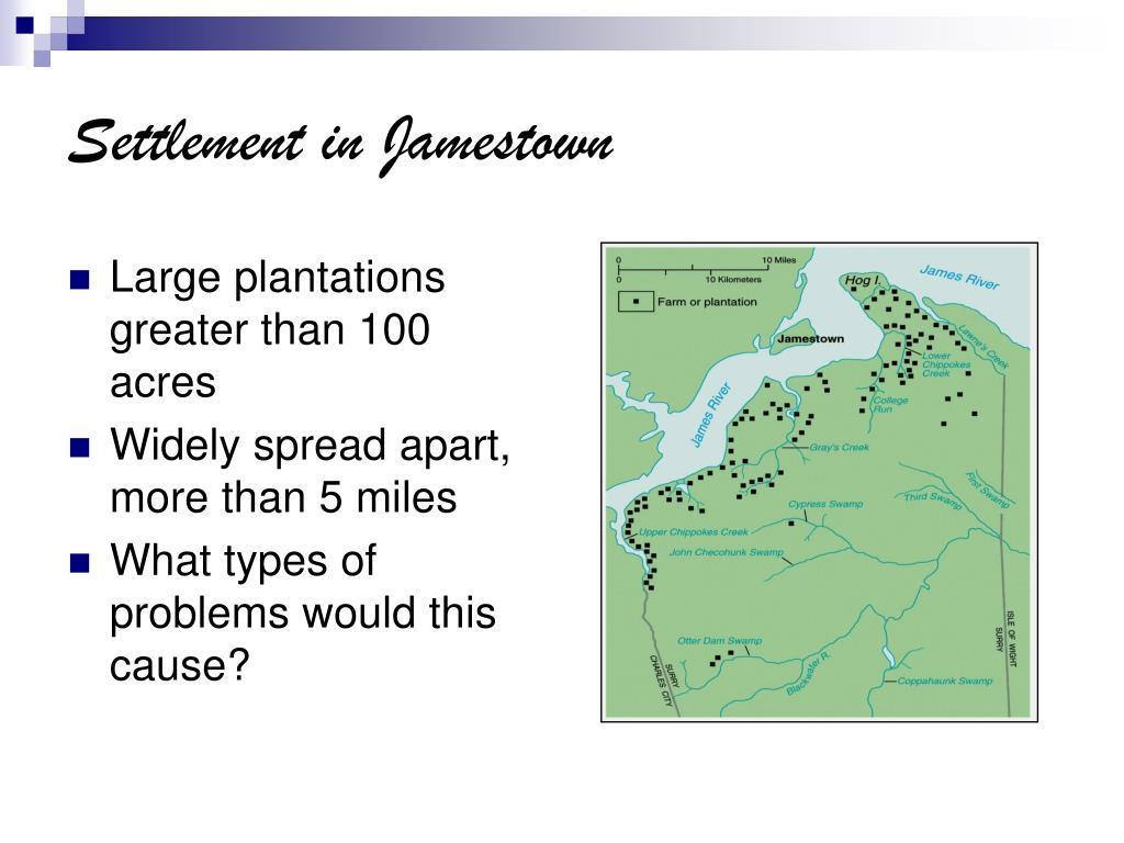 Settlement in Jamestown