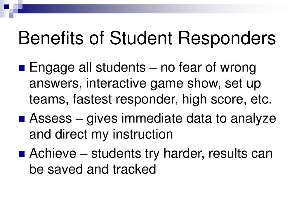 Benefits of Student Responders