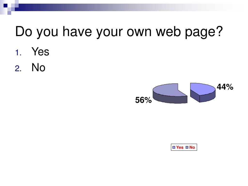 Do you have your own web page?