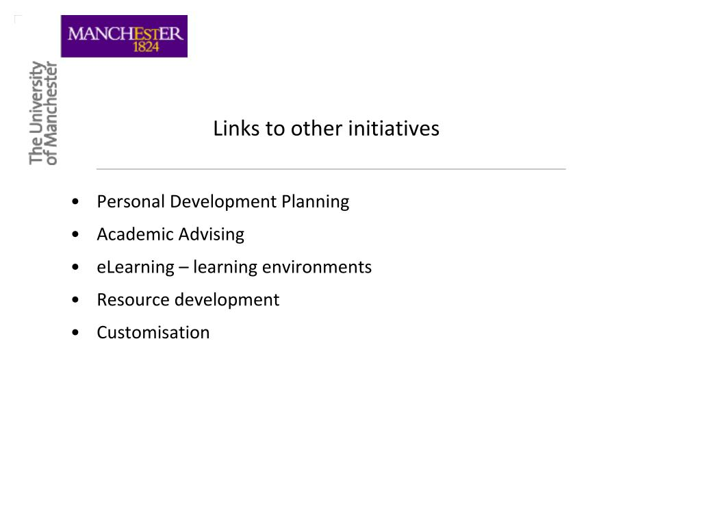 Links to other initiatives