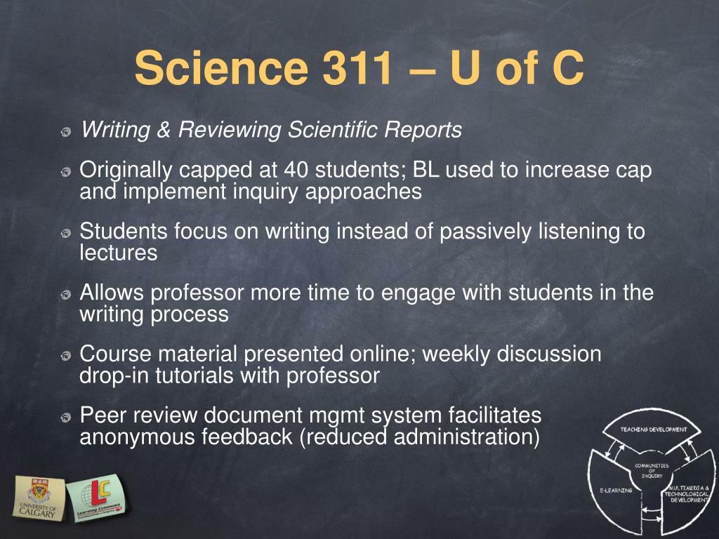 Science 311 – U of C