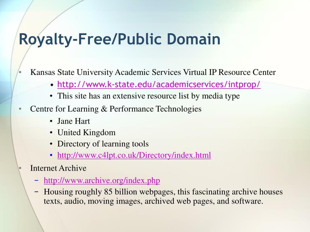 Royalty-Free/Public Domain