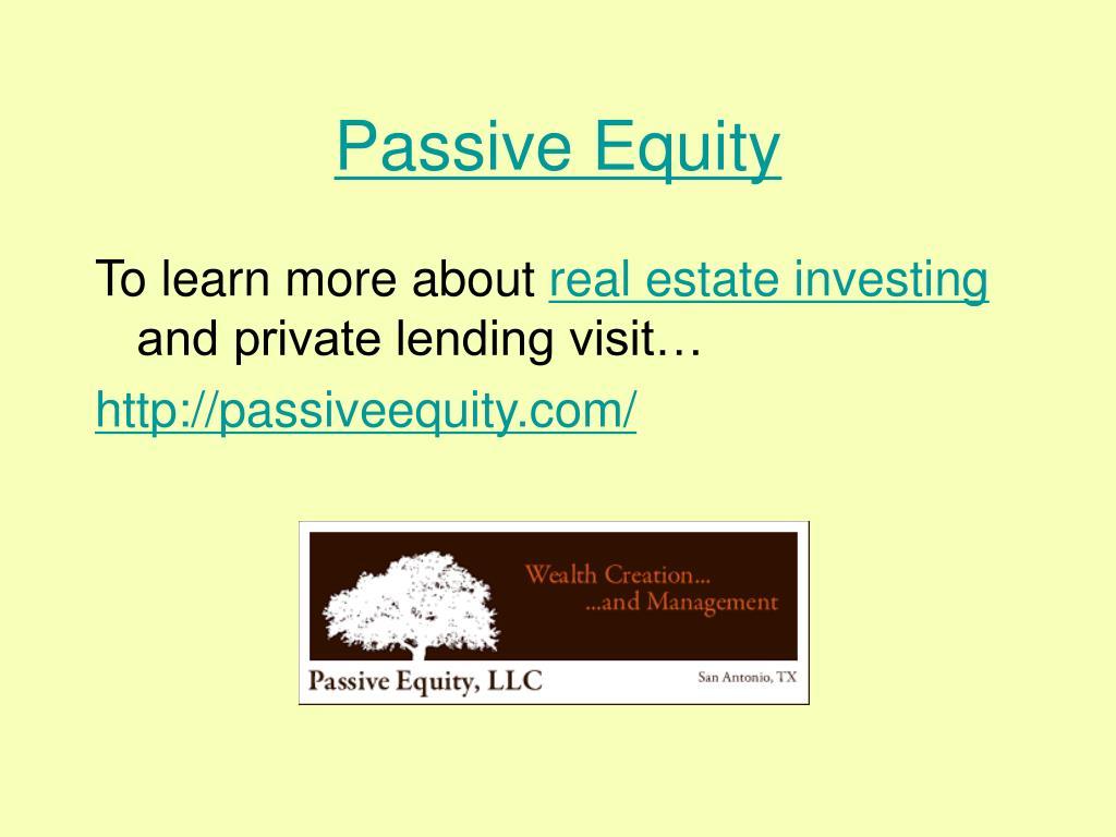 Passive Equity