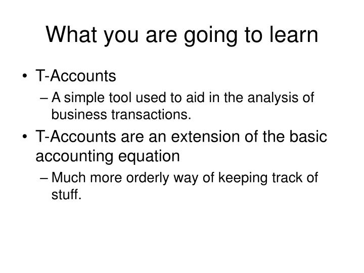 What you are going to learn l.jpg