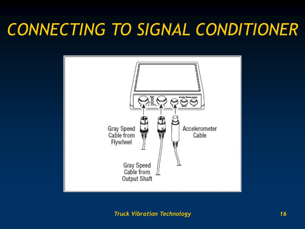 CONNECTING TO SIGNAL CONDITIONER