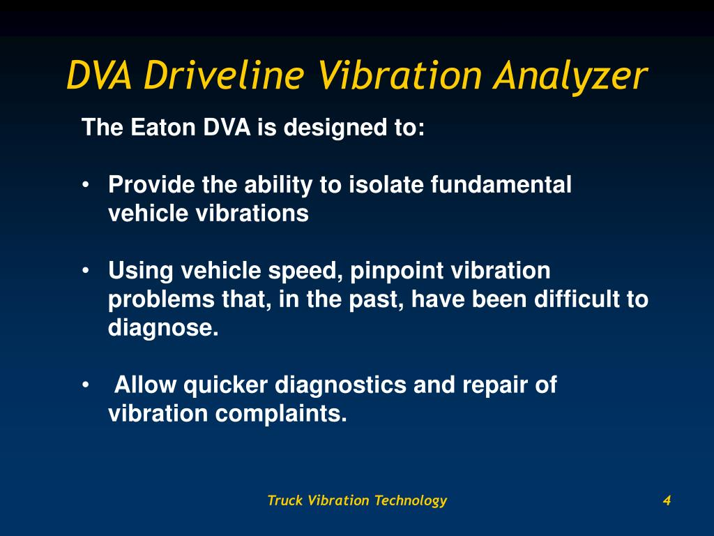 DVA Driveline Vibration Analyzer