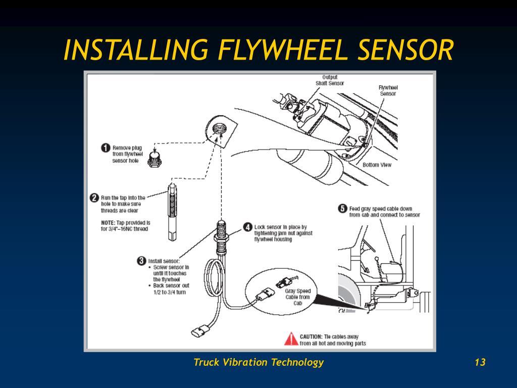 INSTALLING FLYWHEEL SENSOR