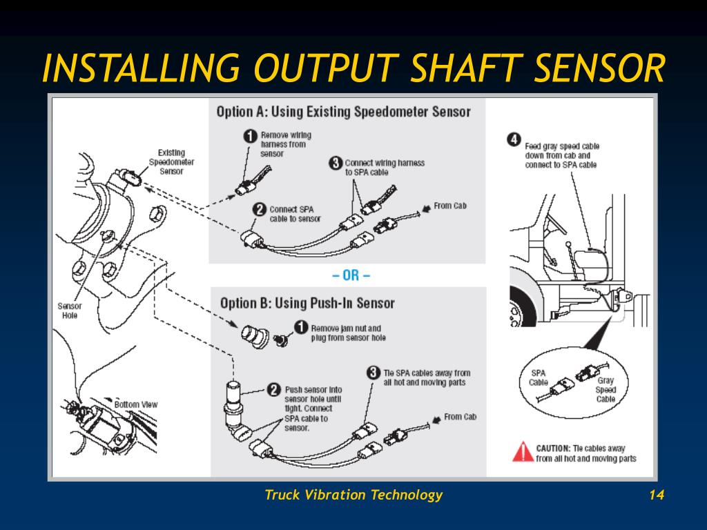 INSTALLING OUTPUT SHAFT SENSOR