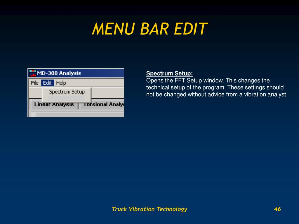 MENU BAR EDIT