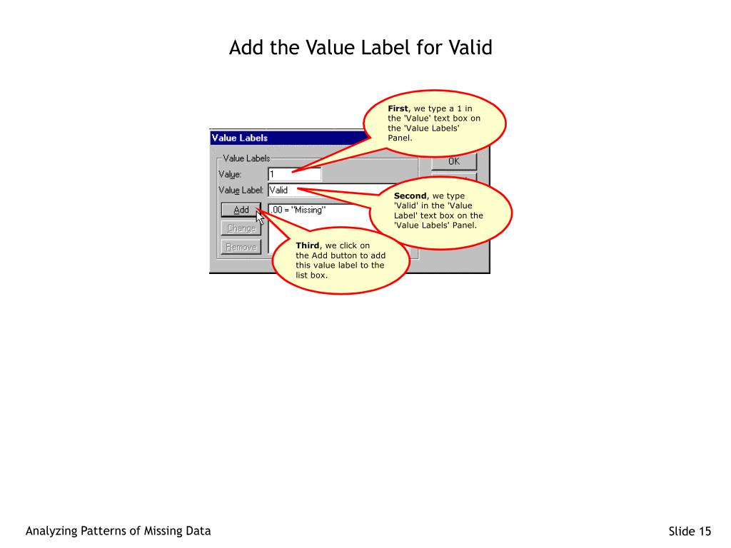 Add the Value Label for Valid