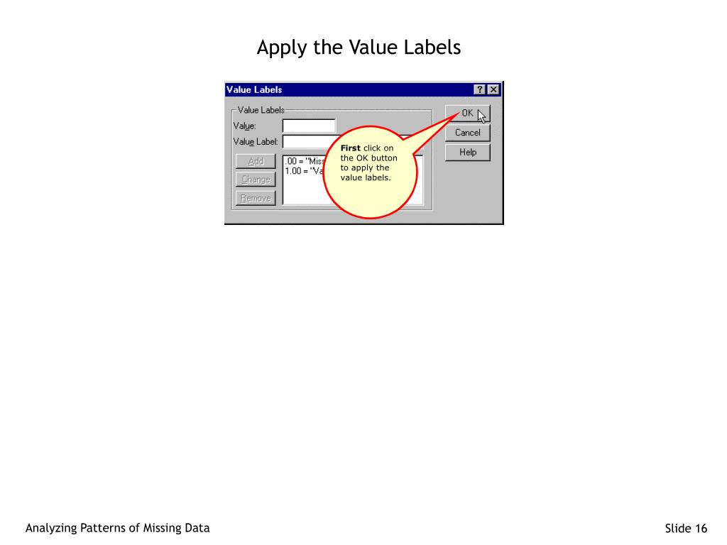 Apply the Value Labels