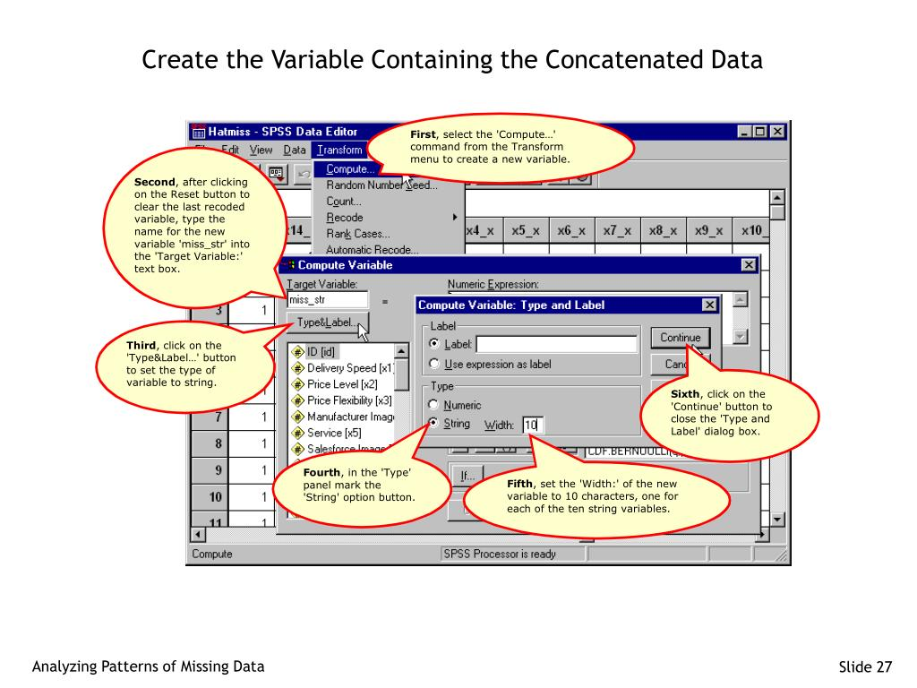 Create the Variable Containing the Concatenated Data