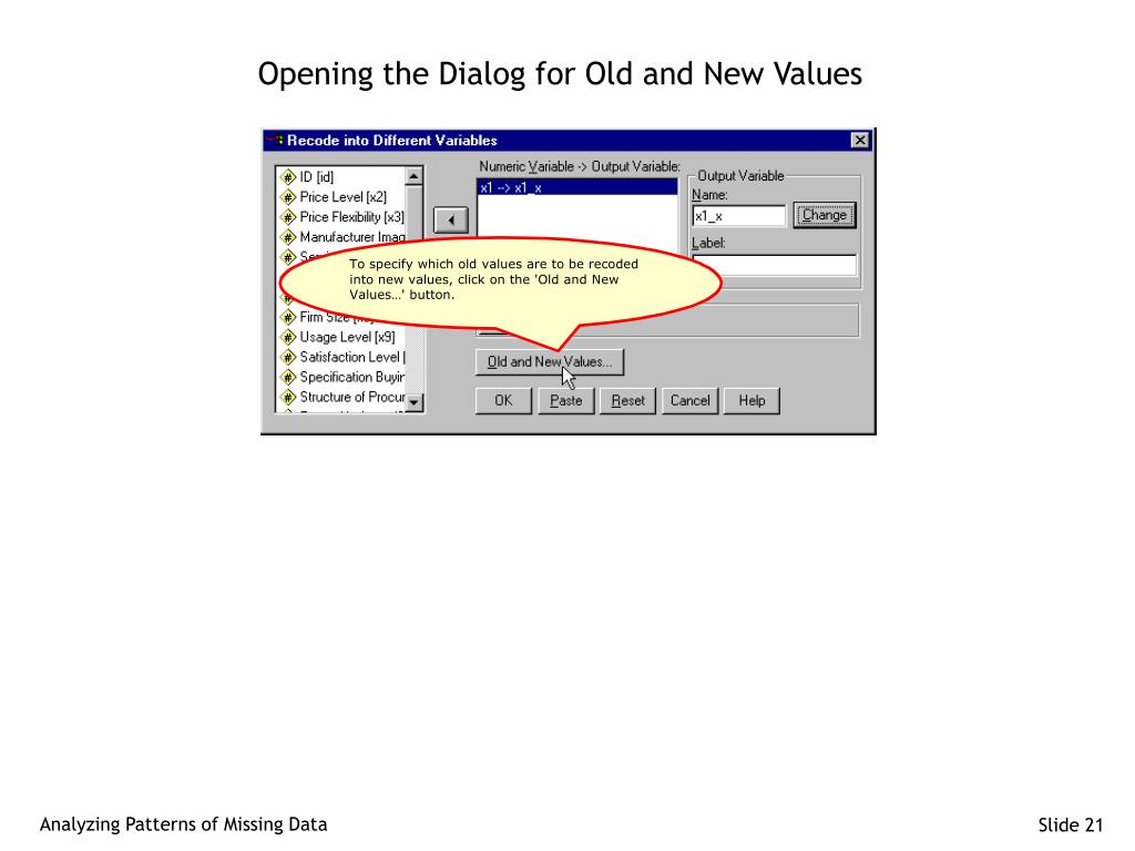 Opening the Dialog for Old and New Values