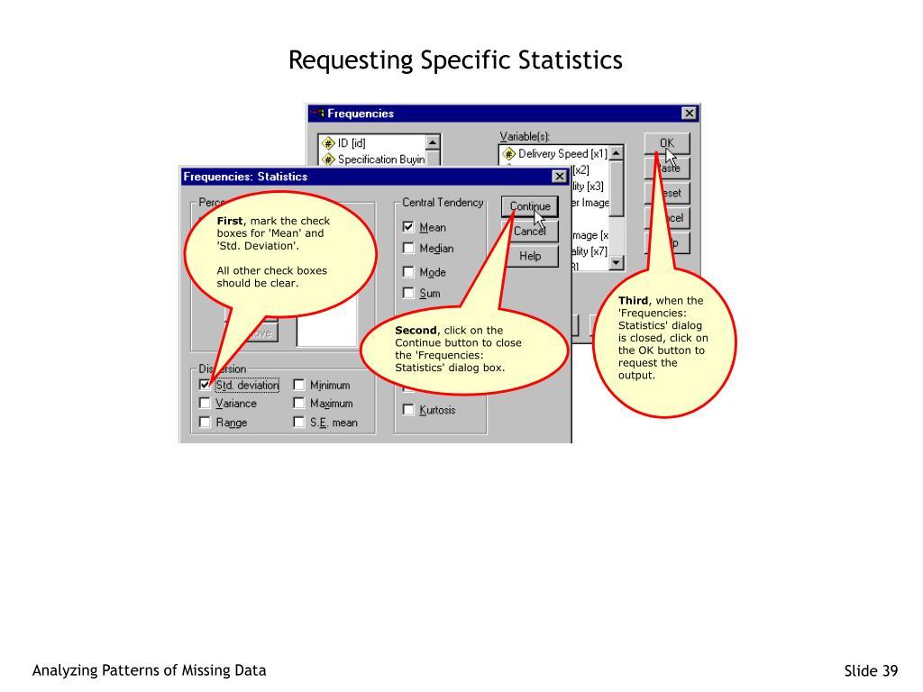 Requesting Specific Statistics