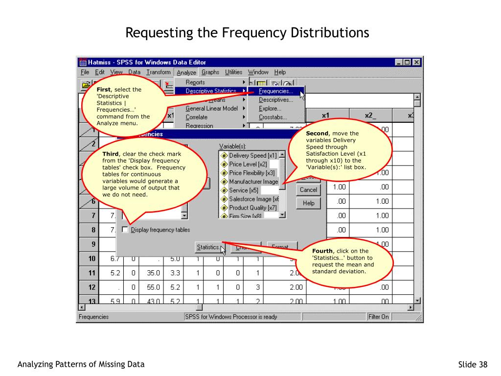 Requesting the Frequency Distributions
