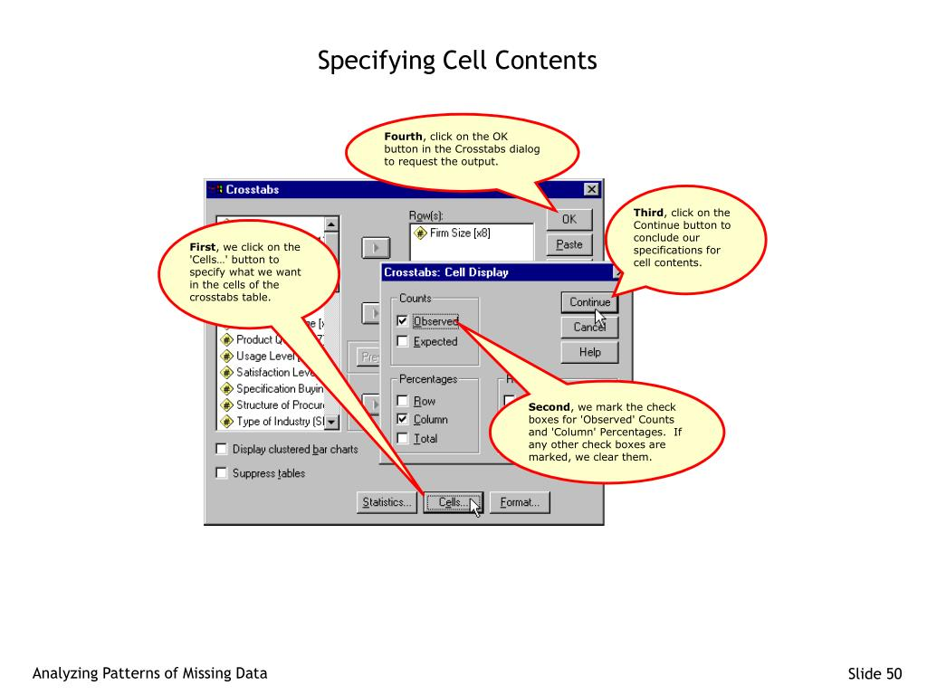 Specifying Cell Contents