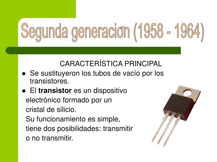 Segunda generacion (1958 - 1964)