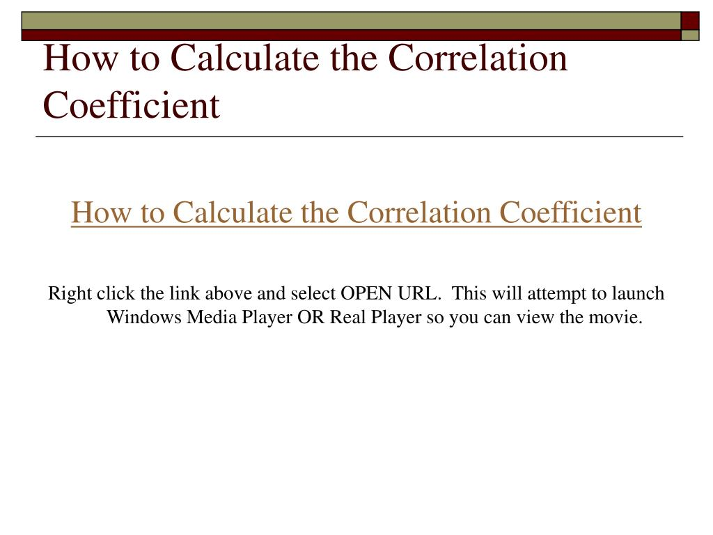 How to Calculate the Correlation Coefficient