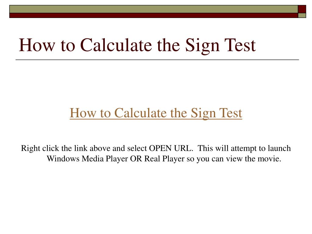 How to Calculate the Sign Test