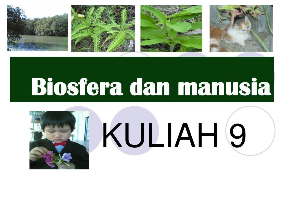Biosfera dan manusia