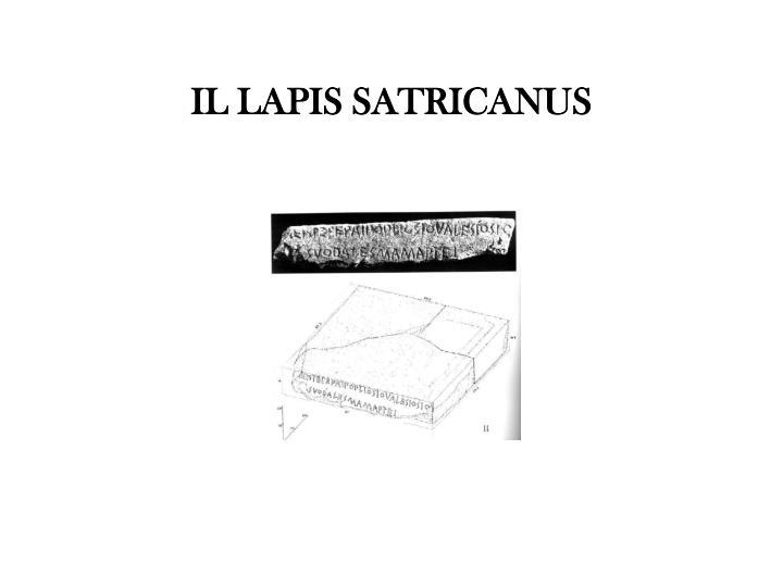IL LAPIS SATRICANUS