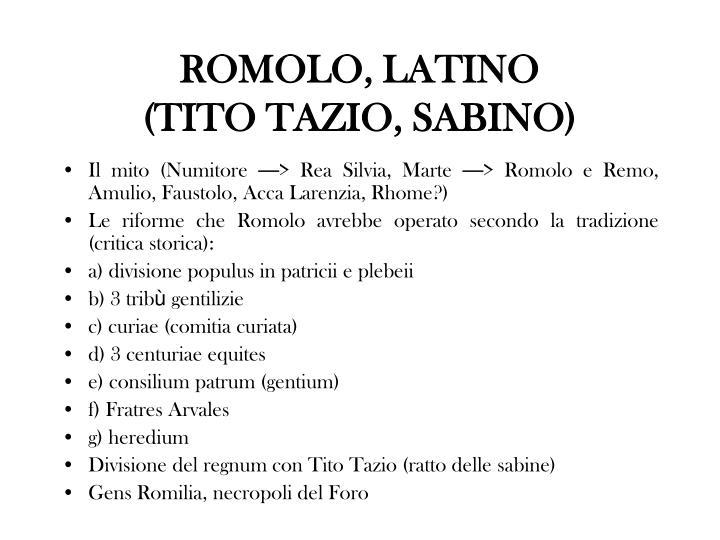 ROMOLO, LATINO