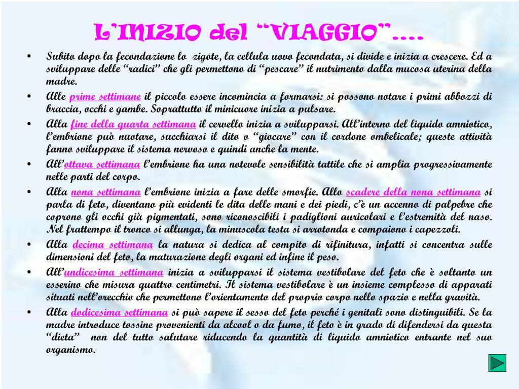 """L'INIZIO del """"VIAGGIO""""…."""