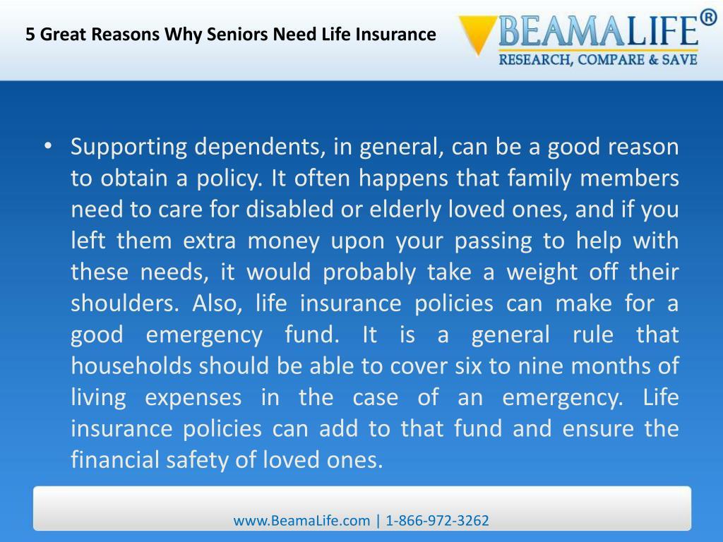 5 Great Reasons Why Seniors Need Life Insurance