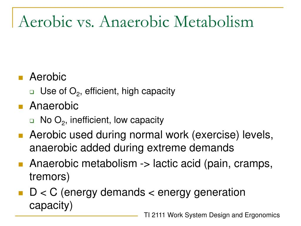 aerobic vs anaerobic The difference between high intensity training and a brisk jog is a matter of anaerobic vs aerobic exercise which one you should do depends on your goals.