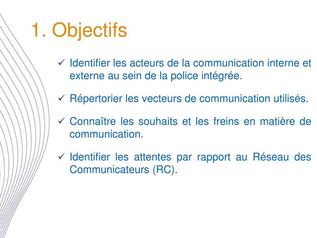 1. Objectifs