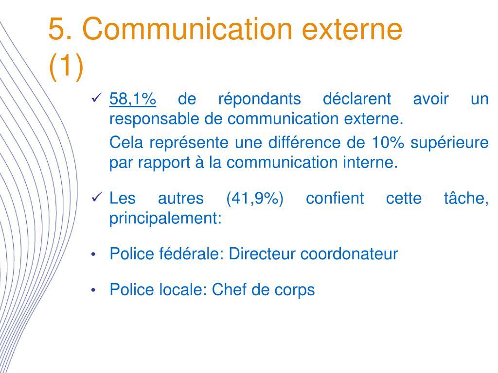 5. Communication externe (1)