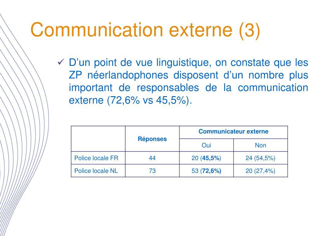 Communication externe (